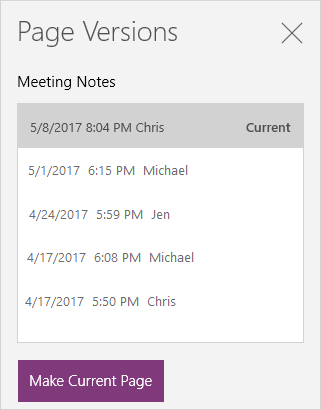 Page-version-history-for-OneNote