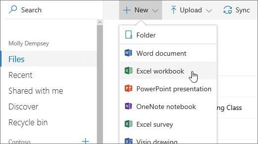 Start documents in OneDrive